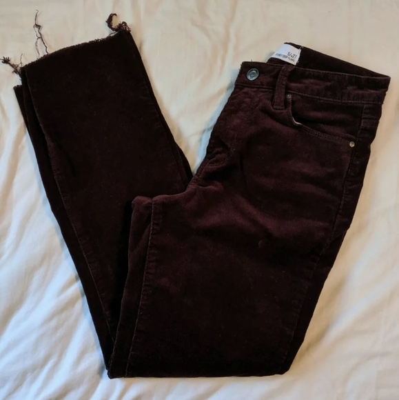 RSQ Denim - Tilly's RSQ Corduroy burgundy Pants Size 27
